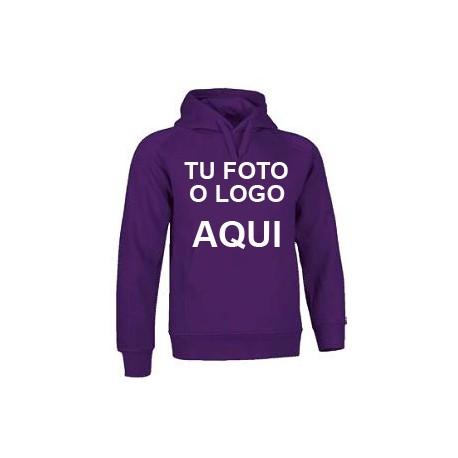 Sudadera con Capucha personalizada purpura