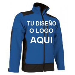 Chaqueta Softshell azul royal-negro