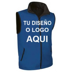 Chaleco Softshell azul royal