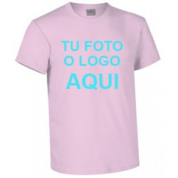 camiseta rosa claro