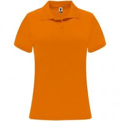 Polo poliester tecnico mujer personalizado naranja
