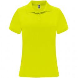 Polo poliester tecnico mujer personalizado amarillo