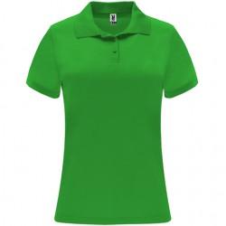 Polo poliester tecnico mujer personalizado verde helecho