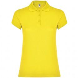 Polo algodon mujer amarillo