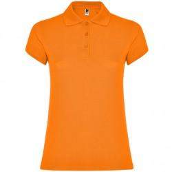 Polo algodon mujer naranja