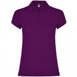 Polo algodon mujer purpura