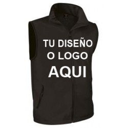 Chaleco Softshell Negro